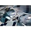 Aviator 23k White Gold Blue Hydro AR 55 Sunglasses