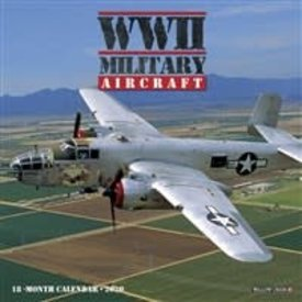 Willow Creek Press WWII Military Aircraft 18 month Mini Wall Calendar 2020 Wallick++SALE++