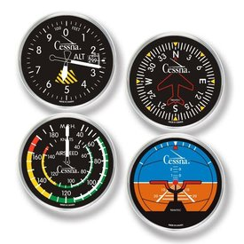 Trintec Industries Cessna Round Acrylic Coaster Set