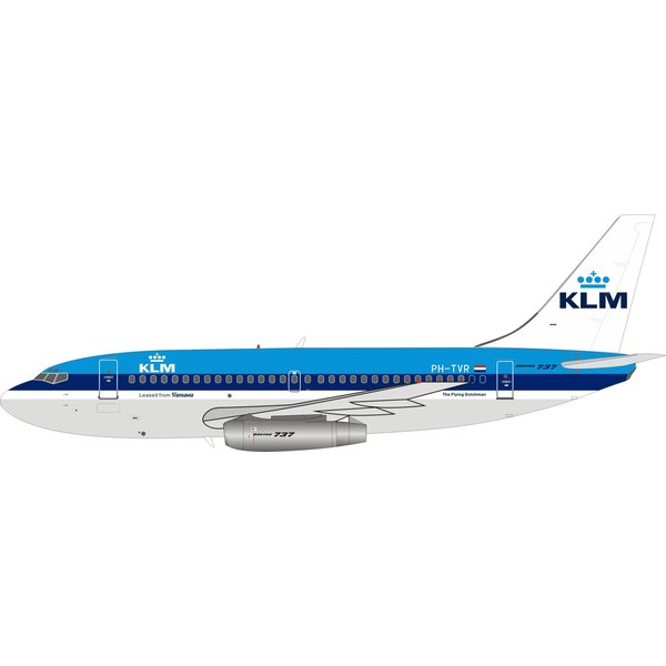 InFlight B737-200 KLM PH-TVR 1:200 with stand