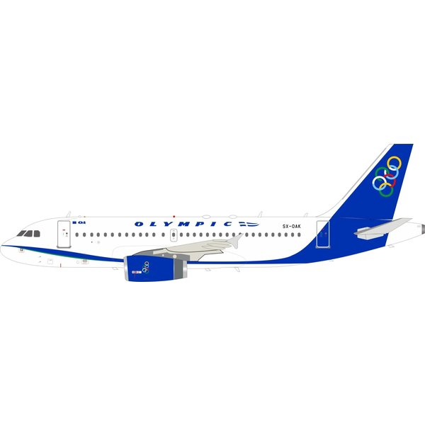 InFlight Airbus A319 Olympic Airlines SX-OAK 1:200 with stand