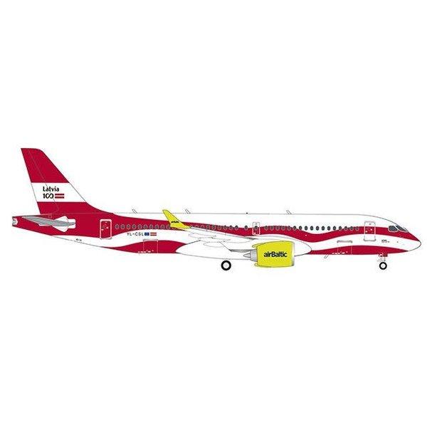 Herpa A220-300 (CS300) Air Baltic Latvia 100 YL-CSL 1:200