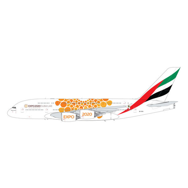 Gemini Jets A380-800 Emirates Orange Expo 2020 A6-EOU 1:200