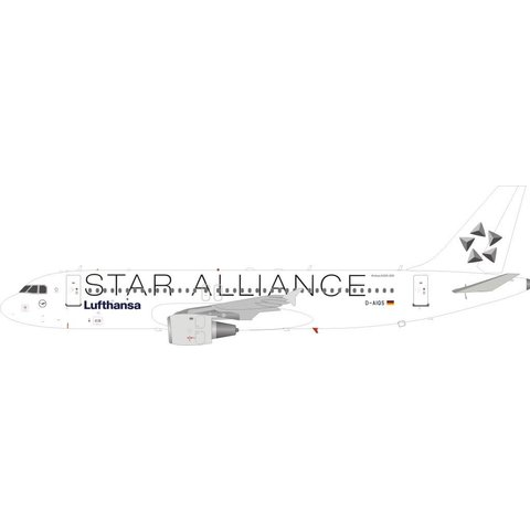 A320 Lufthansa STAR ALLIANCE D-AIQS white 1:200