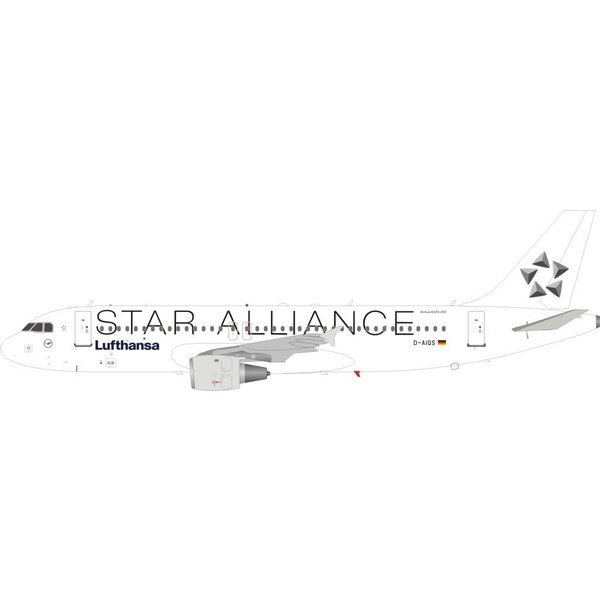 JFOX A320 Lufthansa STAR ALLIANCE D-AIQS white 1:200