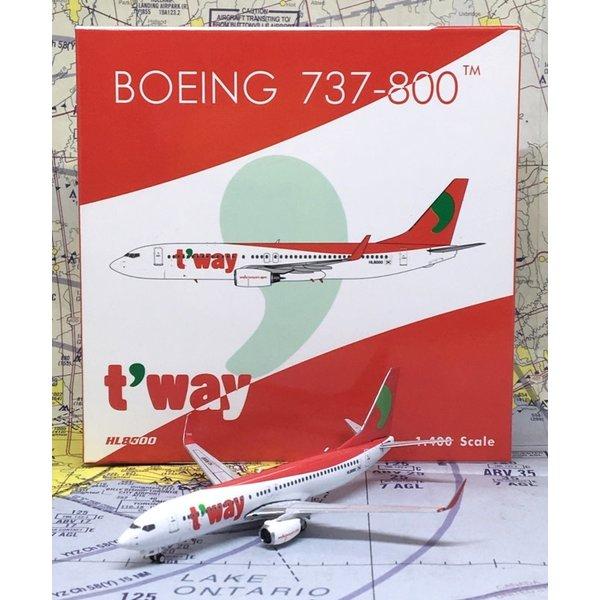 Phoenix B737-800W T'Way Air HL8000 1:400