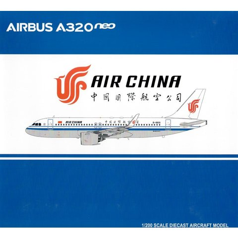 A320neo Air China B-8891 1:200 with stand
