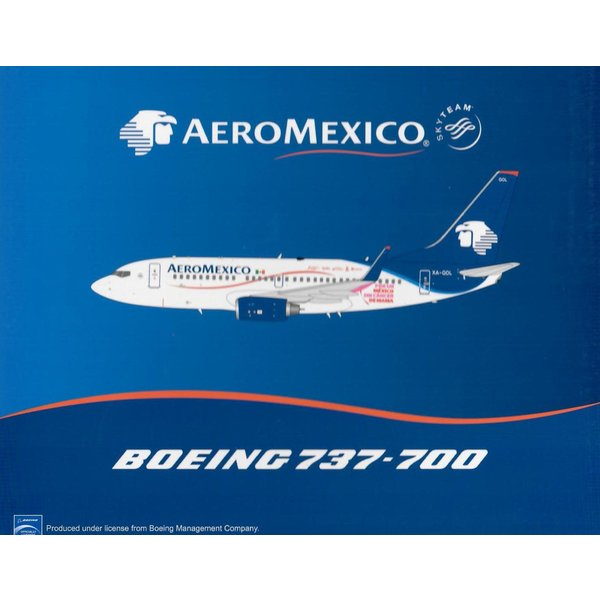 JC Wings B737-700W AeroMexico Iron Man 3 XA-GOL 1:200