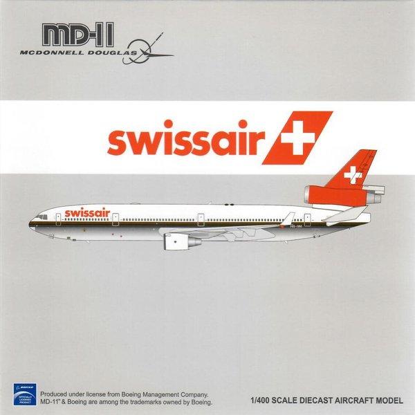 JC Wings MD11 Swissair Brown Cheatline HB-IWI 1:400