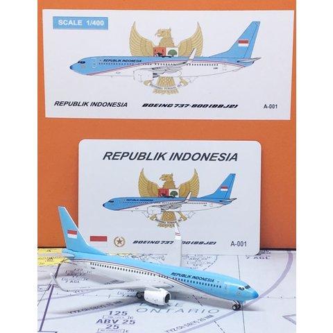 B737-800W BBJ2 Indonesia Air Force TNIAU 1:400