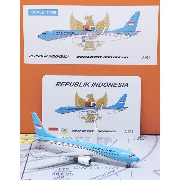 JC Wings B737-800W BBJ2 Indonesia Air Force TNIAU 1:400