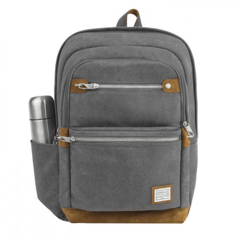 Anti-Theft Heritage Backpack, Pewter Colour