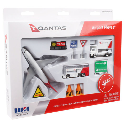 QANTAS New Livery Playset Small 10 Pieces