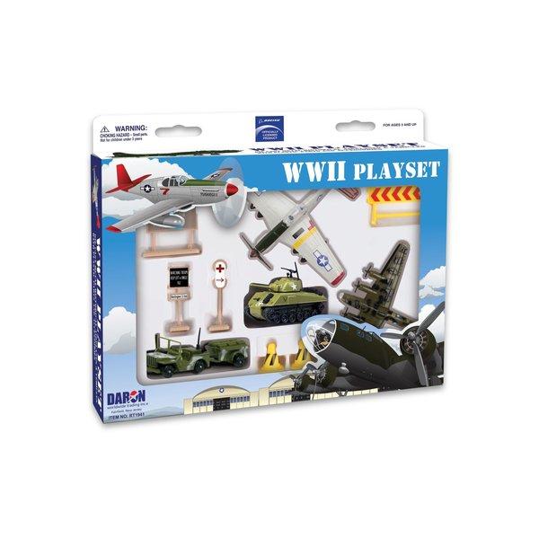 Daron WWT Boeing World War II Playset (2planes, tank, jeep)