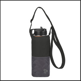 Travelon Packable Water Bottle Tote Black/Gray