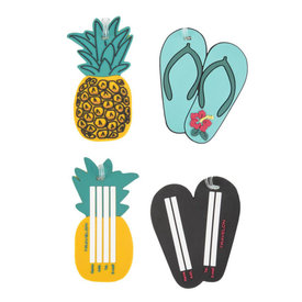 Travelon Set of 2 Novelty Luggage Tags Pineapple / Flip Flop