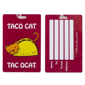 Travelon Personal Expression Luggage Tag Taco Cat