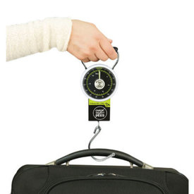 Travelon Stop & Lock Luggage Scale with Tape Measure Black