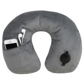 Travelon Deluxe Inflatable Pillow Gray