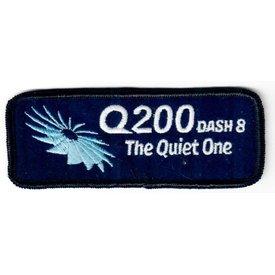 Bombardier Patch Q200 dash8 Quiet One Turbine on Black