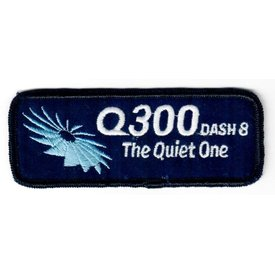 Bombardier Patch Q300 dash8 Quiet One Turbine on Black