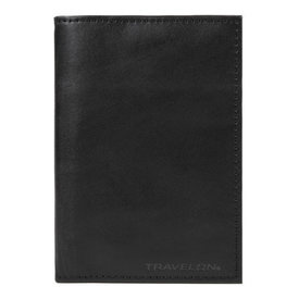 Travelon RFID Blocking Leather Passport Case Black