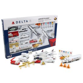 Daron WWT Playset Delta 2007 Livery 2 Planes 25 Pieces