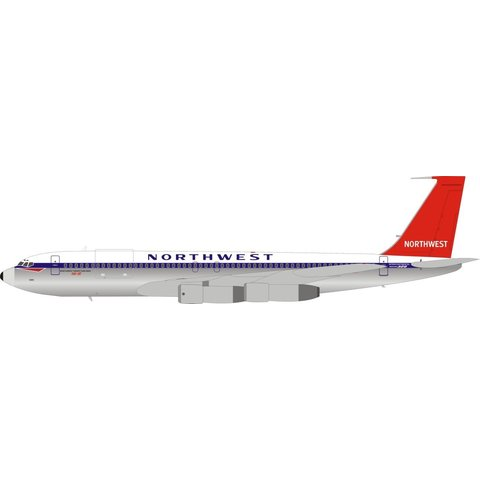 B707-351C Northwest red tail N386US 1:200 stand