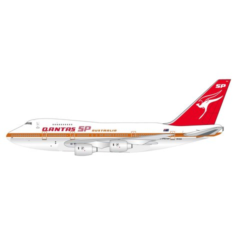B747SP QANTAS SP Australia VH-EAA 1:200 polished