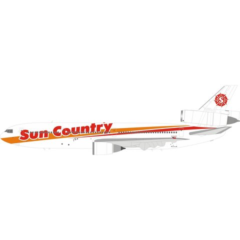 DC10-15 Sun Country N154SY 1:200 with stand