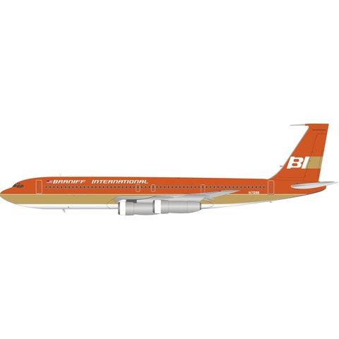 B707-300 Braniff Int'l red/ochre N7098 1:200
