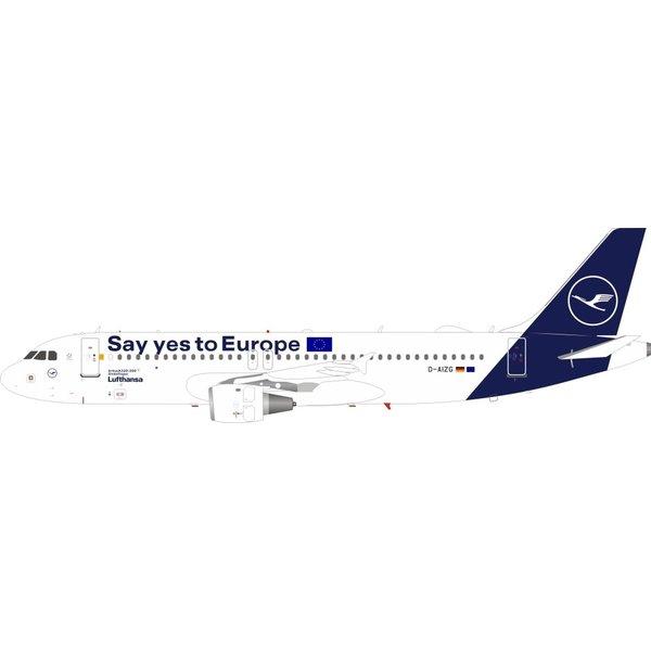 JFOX A320 Lufthansa 2018 c/s Yes to Europe D-AIZG 1:200