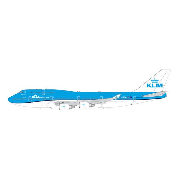 Gemini Jets B747-400 KLM 2014 livery PH-BFW 1:200 stand