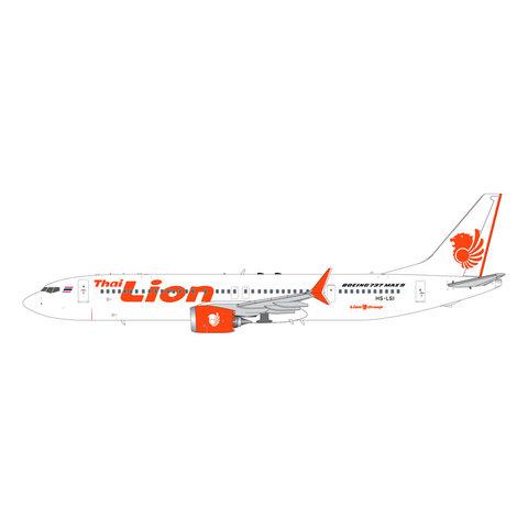 B737 MAX9 Thai Lion Air HS-LSI 1:200 with stand