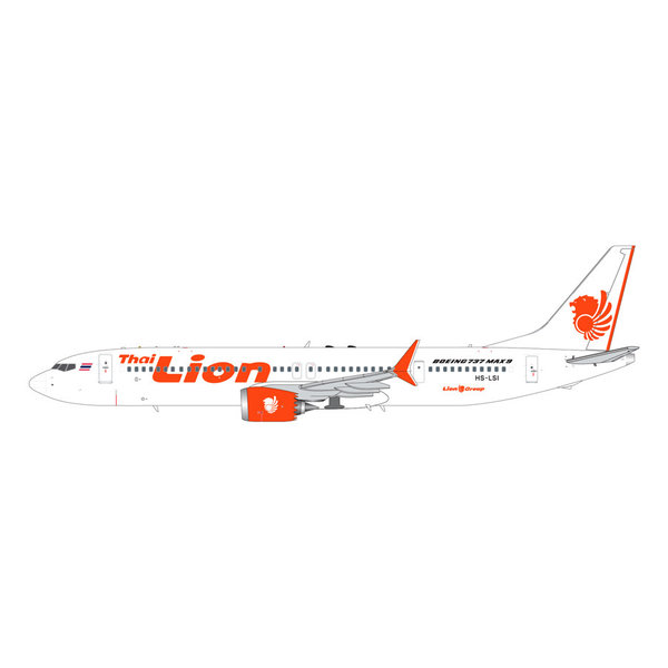 Gemini Jets B737 MAX9 Thai Lion Air HS-LSI 1:200 with stand