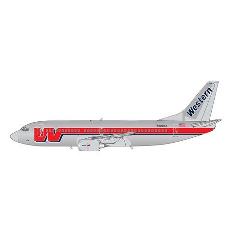 B737-300 Western Final c/s N306WA 1:400 Polished