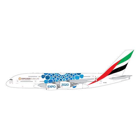 A380-800 Emirates EXPO 2020 blue A6-EOC 1:400