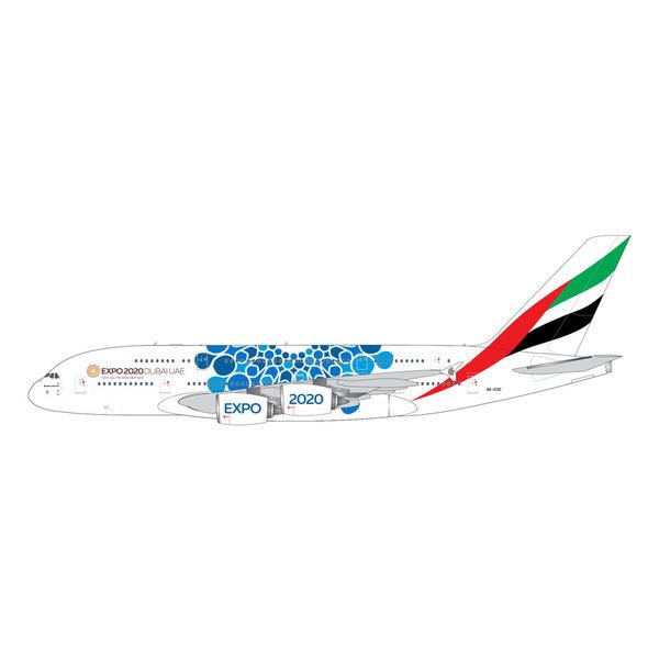 Gemini Jets A380-800 Emirates EXPO 2020 blue A6-EOC 1:400