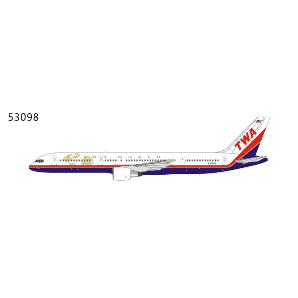 NG Models B757-200 TWA Trans World final c/s N706TW 1:400
