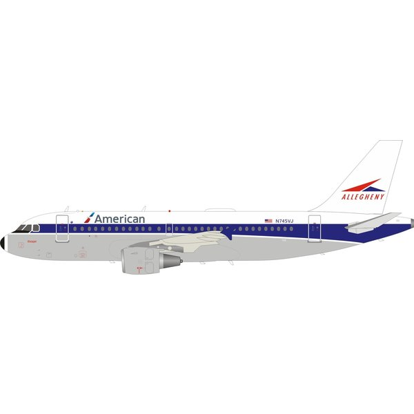 InFlight A319 American Airlines Allegheny Retro N749VJ 1:200