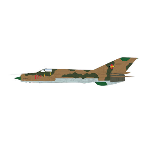 MIG21MF Fishbed JG1 RED511 East Germany 1:72