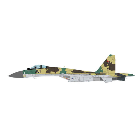 Su35 Flanker Russian AF Zhukovskij MAKS 2007 1:72