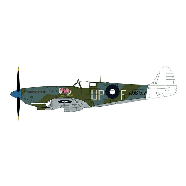 Hobby Master Spitfire VIII 79 Sqn RAAF UP-F A58-517 Smithell 1:48