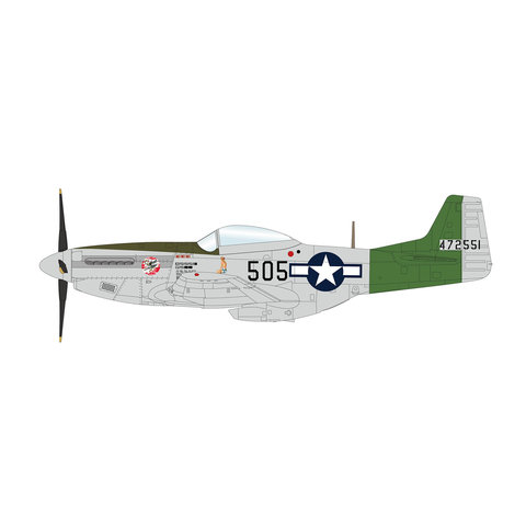 P51D Mustang Cpt.Aust 457FS 506FG 1:48 Unsigned