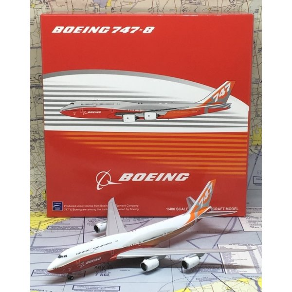 JC Wings B747-8I Boeing House Sunrise Livery N6067E 1:400