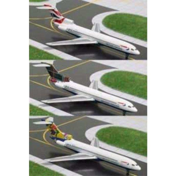Gemini Jets B727-200 British Airways Set 3 x special tails 1:400++SALE++