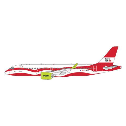 A220-300 Air Baltic Latvia 100 livery YL-CSL 1:400