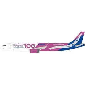 InFlight A321S Wizz Air 100th Airbus HA-LTD 1:200
