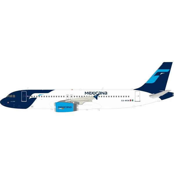 InFlight A320 Mexicana final c/s XA-MXW 1:200 With Stand