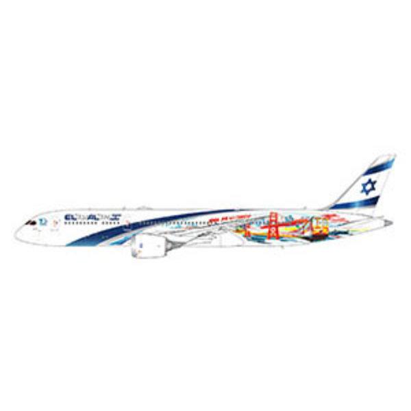 Gemini Jets B787-9 Dreamliner ELAL Vegas Frisco 4X-EDD 1:400
